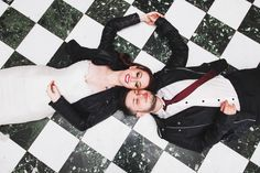 Overhead shot of newlywed couple lying side by side on the floor Wedding 2017, My Favorite Image, Wild Things, Newlyweds, Dublin, I Am Awesome, Floor, Couples, Pavement