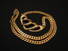 Vintage Napier Gold Tone Book Wave Bib Choker Necklace by ditbge, $22.99