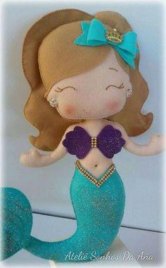Eu Amo Artesanato: Boneca Sereia com molde