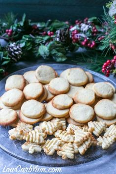 KETO CREAM CHEESE COOKIES ~ Yummy low carb and gluten free cream cheese cookies. These tasty sugar free cookies can be pressed or cut into festive shapes for any holiday. Sugar Free Cookies, Keto Cookies, Chip Cookies, Cheesecake Cookies, Keto Cheesecake, Gluten Free Cookie Recipes, Gluten Free Cookies, Low Carb Desserts, Low Carb Recipes