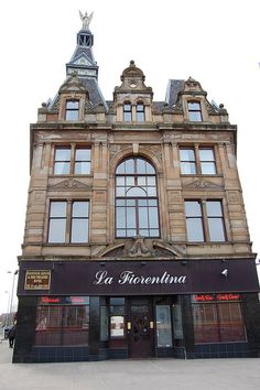 Known as The Angel above building with La Florentina restaurant at corner of Paisley Road Toll, Glasgow.