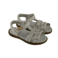 #Sandalias en piel natural Turia con serigrafía láser de dibujo demariposa ycon suelas de bio con goma flex de la marca española PABLOSKY