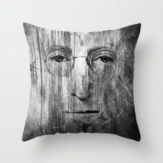 Jhon Lenon Throw Pillow