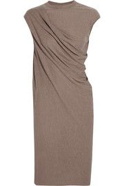 For the blue jersey fabric Rick Owens Draped jersey dress