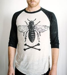 Bee Baseball Tee   Women's Clothing   Acanthus Apparel   Scoutmob Shoppe   Product Detail