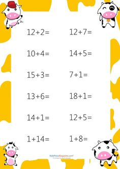 Easy Addition Worksheet – #6 #easy #addition #sum #to #20