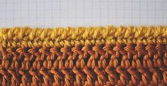 Lots of edge finishing options on this site. This one is the Crab Stitch/ Corded Edging. #Crochet #DIY #yarn