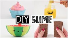 MAKING 4 AMAZING DIY SLIMES - Four EASY Slime Recipes! - YouTube