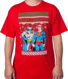 Batman Superman Christmas T-Shirt: Super Heroes T-Shirts