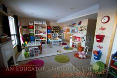 This lady has organization of a child-friendly play space down to a science! Great tips on here that I can recreate  in my small playroom (hope to remodel and enlarge it one day).