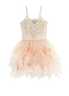 SOARING HEARTS TUTU DRESS - LATTE
