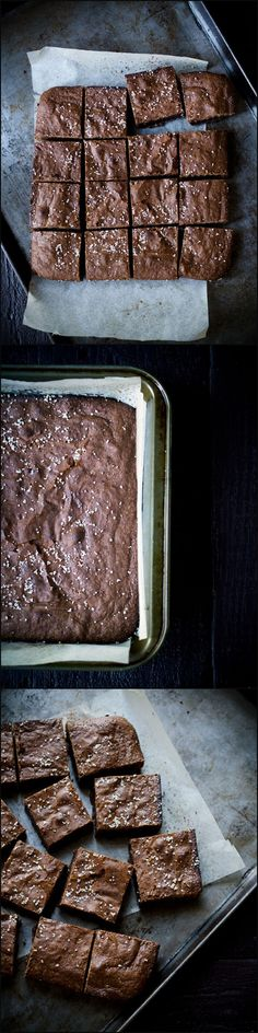 Salted Olive Oil Brownies from Savory Simple are a decadent, sweet and salty treat. They're some of the best brownies I've ever tasted.