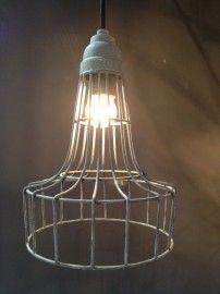 Draadlamp model 1 | Hanglampen | Met Brocant Label Ceiling Lights, Lighting, Pendant, Home Decor, Decoration Home, Room Decor, Hang Tags, Lights, Pendants
