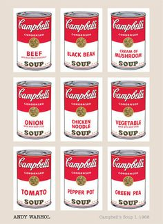 Campbell's Soup I, 1968 Andy Warhol Fine Art Print Poster