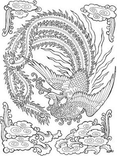 phoenix coloring pages for adults 132 Best fantasy color animal images in 2019 | Coloring pages  phoenix coloring pages for adults
