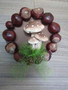Süti és más...Őszi ajtódísz Stuffed Mushrooms, Fruit, Vegetables, Food, Projects, Stuff Mushrooms, Essen, Vegetable Recipes, Meals