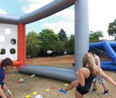 inflatable rugby kicking enclosure