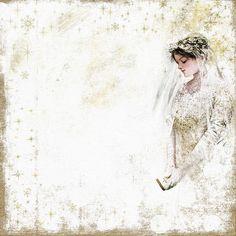 Winter Wedding with Harrison Fisher art Bride