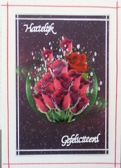 Red Roses in Motion Birthday or Get Well Gallery - CraftsuPrint