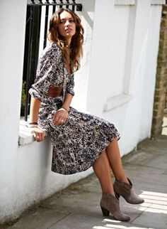 love these types of dresses. great with booties for fall transition since its still hot in houston