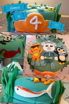 Octonauts cake! 4th birthday cake!