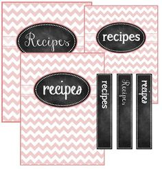 FREE recipe binder cover printables