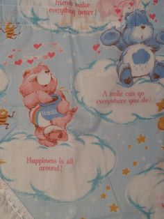 5 piece Vintage Care Bears curtain set by SheetTheBed on Etsy https://www.etsy.com/listing/452933400/5-piece-vintage-care-bears-curtain-set