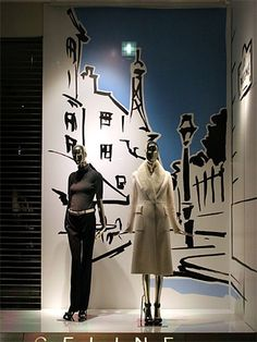 Visual: CELINE - Vidrieras de Tokyo Fashion Window Display, Store Window Displays, Retail Displays, Retail Windows, Store Windows, Visual Merchandising, Vitrine Design, Window Display Design, Visual Display