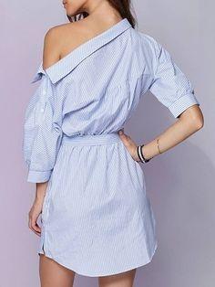 Vestido  Camisa Listrado - Ref.854 - DMS Boutique