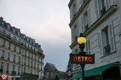 An old Metro sign in Paris
