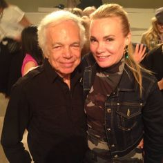 Ralph Lauren and I backstage at his show a few years back. This is the one show I insist on attending at NY Fashion week as his designs are accessible to every woman & perfect for the office