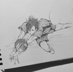 Drawing Cartoon Characters, Anime Character Drawing, Cartoon Art Styles, Cartoon Drawings, Haikyuu Fanart, Haikyuu Anime, Art Drawings Sketches Simple, Cool Drawings, Learn To Draw Anime