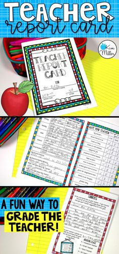 End of Year Fun! Grade the Teacher! This is a fun activity you can do with your students during the last week of school! Students are given the opportunity to grade their teacher. It's always fun to see the responses you get! *Print the report card front to back and fold like a book.