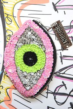 CANDY LIME 'EVIL EYE' WALLET - FREE AUS SHIPPING! | DI$COUNT UNIVER$E