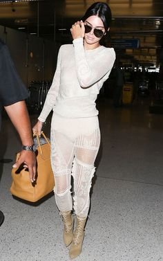 Kendall Jenner's latest airport outfit is not for the faint of heart, but it proves yet again that she can pull anything off. See it here.