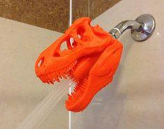 Jurassic World Inspired Tyrannosaurus Rex Shower Head ! Made to Order! T-Rex for the shower! Great gift for dinosaur fan Impression 3d, 3d Laser Printer, Josie Loves, 3d Printer Designs, 3d Printer Projects, Dremel Projects, Diy Projects, 3d Printing Diy, 3d Printing Website