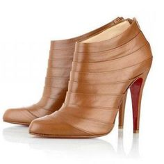 5b8430b8b772 Christian Louboutin Orange Leather Boots