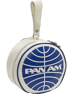 Pan Am Round Wash Bag in Vintage White
