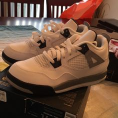 Jordan Retro 4 cements size 3y brand new comes with box Jordan Shoes Sneakers