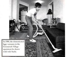 Iggy vacuuming