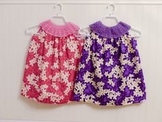 I love when crochet is combined with fabric like we see here in these dresses made by Erna from Eyes of a Child blog