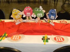 m & m baby shower theme decorations   Found on catchmyparty.com