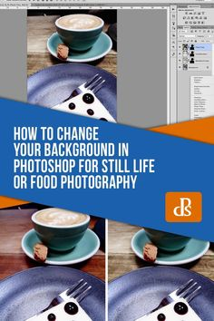 You may not have access to different backgrounds for still life and food photography. But now you can change a background in Photoshop. Photoshop Website, Cool Photoshop, How To Use Photoshop, Photoshop Elements, Photoshop Tutorial, Photoshop Actions, Lightroom, Food Photography Props, Photoshop Photography