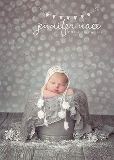 Light Gray Shell Mohair Newborn Baby by PeekABootiqueDesigns