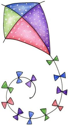 "Let's go fly a kite - Laurie Furnell - ""Birds of a feather"" Applique Patterns, Applique Designs, Doodle Art, Watercolor Cards, Fabric Painting, Canvas Painting Designs, Kite, Clipart, Easy Drawings"