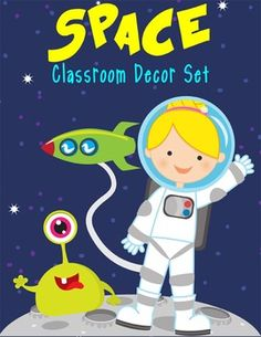 Decorate your classroom with an OUT OF THIS WORLD space theme. Artrageous Fun at Teachers Pay Teachers create vinyl banners to display in your classroom and hallways