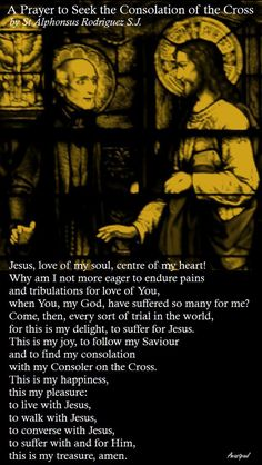 """""""...Come, then, every sort of trial in the world, for this is my delight, to suffer for Jesus. This is my joy, to follow my Saviour and to find my consolation on the Cross...."""" ~ AnaStpaul - February 16, 2017"""