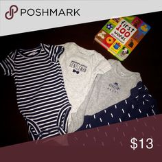 Carters 4 pc Newborn Carters set in good condition for a baby boy Carter's Shirts & Tops Tees - Short Sleeve