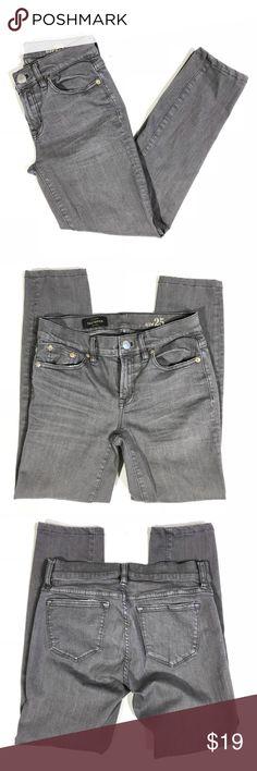 J CREW Toothpick Jeans Gray Size 25 size 25 Inseam 26 J. Crew Jeans Skinny