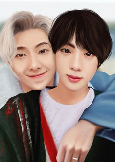 Namjin, Bts Texts, Moon Lovers, Bts Drawings, Bts Fans, Jikook, Chibi, Anime, Fan Art